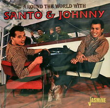 SANTO & JOHNNY 'Around the World With' - 34 Tracks on Jasmine