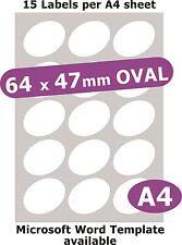 20x6mm 600 Etikett Matt Weiß Papier 5 A4 Blätter Laser Kopierer Inkjet Sticker