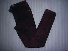 Squeeze Brand Girls Burgundy color Skinny Jeans Size 8 with adjustable waist