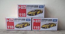 Tomica #118 Lamborghini Veneno (Yellow) x 3 pieces