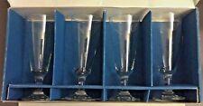 4 Bohemia Crystal Claudia Red Wine Glasses 190ml 6.75 oz Czechoslovakia w/ Box