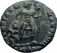 VALENS w Christian Chi-Rho Labarum Ancient 367AD Authentic Roman Coin i78555