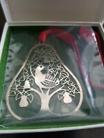 Towle Silversmiths Christmas Ornament #3131, Partridge in a Pear Tree