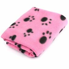 Pet Dog Cat Puppy Kitten Small Soft Blanket Doggy Warm Bed Mat Paw Print Cushion