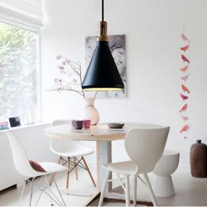 Black Pendant Lighting Bedroom Lights Kitchen Wood Lamp Bar LED Ceiling Lights