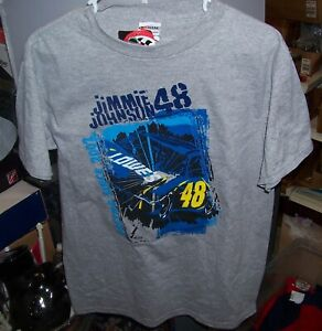 VINTAGE CHASE #48 LOWES GRAY YOUTH TEE SHIRT JIMMIE JOHNSON XL EXTRA LARGE NWT