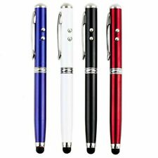 4 In 1 Laser Pointer LED Torch Screen Stylus Ball Pen Portable Y1F4