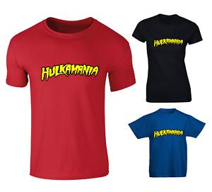 Hulkamania Hulk Hogan 80s Wrestling Inspired T-shirt - Mens Womens & Kids Sizes