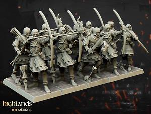 ARCHER UNIT x10: Empire, Fantasy, Resin Printed, D&D miniatures, 28mm scale
