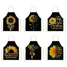 Personalized Unisex Sunflower Pattern Apron Kitchen Bakering Work Uniform New