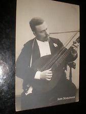 Old postcard Sweden singer musician composer Sven Scholander c1900s