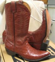 Muro men's Western Boots 4828 Brown Leather, Ostrich size 8 D NEW