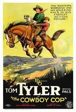 THE COWBOY COP Movie POSTER 27x40 Tom Tyler Jean Arthur Ervin Renard Frankie