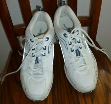Women's EASY SPIRIT White with Navy trim SNEAKERS Reflective size 6.5