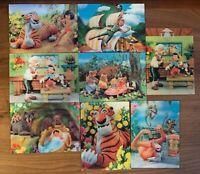 Vintage Walt Disney 3D Lenticular Postcard Unused Lot (8) Pinocchio Peter Pan ++