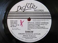 "DISCO SOUL FUNK 12"" 45 - CROWN HEIGHTS AFFAIR - DANCIN' (1976) DE-LITE 588 PROMO"