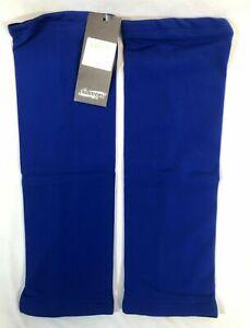 Inverse Fleece-Lined Cycling Knee Warmers in Blue