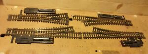 """4 Atlas HO Gauge Brass Snap Track Electric Switches 3 #4 1 """"Y"""""""