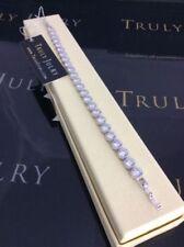 Bracciali di bigiotteria tennis argento cristallo