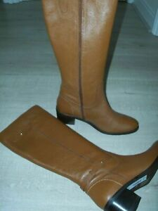 NEW FAITH Leather Knee High Boots Size UK 5 Tan