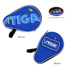 STIGA Table Tennis Racket Case Single Bat Paddle Blades & Balls Carry Bag BLUE