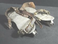Antique IVER JOHNSON Sporting Goods Boston Mass No 7 Double Runner ICE SKATES