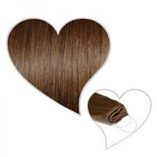 Easy Flip Extensions in haselnussbraun #06 60 cm 130 Gramm Echthaar Hair Secret