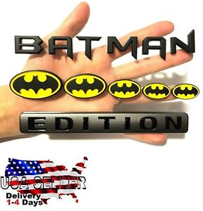 BATMAN FAMILY EDITION car truck MINI logo SMART decal SUV SIGN ELECTRIC Medallio