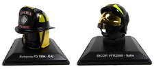 Set of 2 Firefighters Helmets 1:5 (5cm) - NYPD + Italy Models LCP3