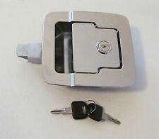 "FIC CHROME RV 5"" x 4 1/2"" Baggage Door Lock 30205 Standard Plunger Length 2 Keys"