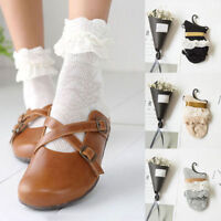 1pair 2017 New Women Ladies Retro Lace Ruffle Frilly Ankle Sock Cotton Socks