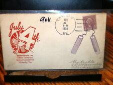 #9011,Cracker Ky 7/4/34 w Purple Firecrackers Pm Seldom Seen,Cover