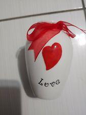 flower vase decorative table top love porcelain