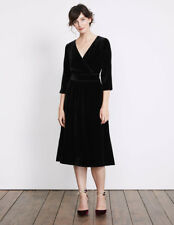 Boden Farrah Velvet Dress Black Size UK 12 LF172 ii 08