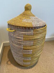 West Elm Graphic Lidded Basket