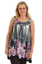 Geblümte Damenblusen,-Tops & -Shirts im Tuniken-Stil mit Rundhals und Polyester