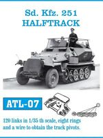 1/35 ATL07 FreeShip FRIULMODEL METAL TRACKS FOR GERMAN Sd. Kfz. 251 HALFTRACK