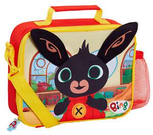 Bing Bunny Lunch Bag 3D Ears Boys Girls Nursery School Bag with Detachable Strap