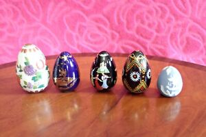 Lot of 5 -Franklin Mint Treasury of  Eggs(Porcelain)