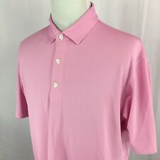 DUNNING GOLF S/S Polo Shirt Mens L LARGE Pink #1421 EUC