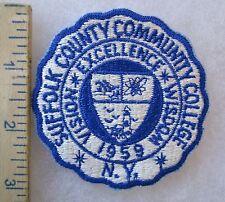 ORIGINAL Vintage SUFFOLK NEW YORK COMMUNITY COLLEGE ROTC SCHOOL PATCH
