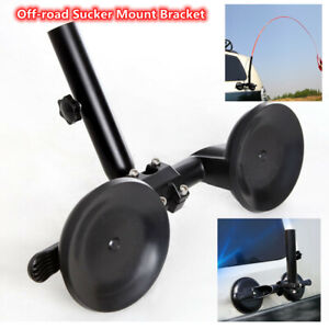 SUV ATV Off-Road Flagpole Bracket Heavy-Duty Adjustable Suction Cup