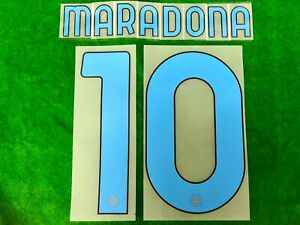OFFICIAL SSC NAPOLI 4th 2020-21 MARADONA TRIBUTE SERIE A PLAYER SIZE PRINT