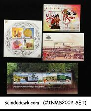 INDIA - 2002 COMPLETE SET OF MINIATURE SHEETS MNH 4nos