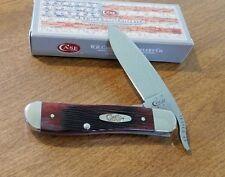 CASE XX New Crimson Barnboard Jigged Bone Handle 1 Blade Russlock Knife/Knives