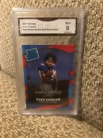 2017 Donruss Evan Engram Rated Rookie Red Press Proof Mint 9 New York Giants