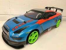 Nissan Skyline GTR LARGE 4WD DRIFT RC REMOTE CONTROL CAR 1/10 RECHARGEABLE BLUE