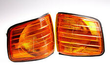Amber Corner Lights Pair For Mercedes C126 1985 0008209321 0008209221