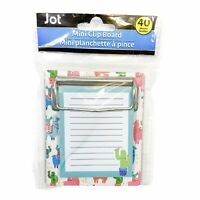 Jot Colorful Llama Cactus Mini Clipboard With Notepad 40 Sheets 3.25in x 3.50in