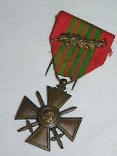 CROIX DE GUERRE 1939 +  CITATION 1 PALME  !!!